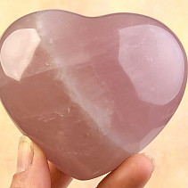Vintage rose quartz heart 359g