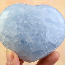 Smooth heart calcite blue 70x84mm
