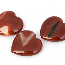 Carnelian + agate heart in palm 45mm