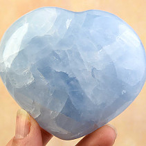 Blue calcite heart shape 317g