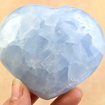 Blue calcite heart shape 318g
