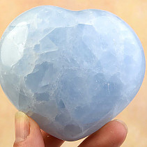 Smooth heart calcite blue 74mm