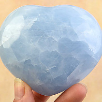 Calcite heart blue 326g