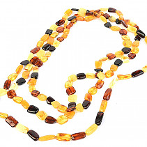 Long amber necklace mix approx. 100cm