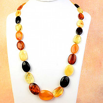 Amber necklace oval mix 71cm