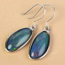 Australian Boulder Opal Earrings Hooks Ag 3.7g