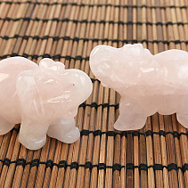 Elephant for luck from rose quartz