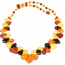 Exclusive amber necklace 49cm 18.58g