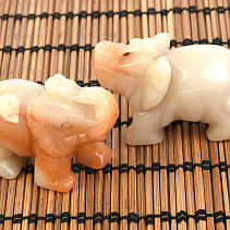 Calcite elephant for good luck