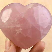 Smooth heart of rose quartz 206grams