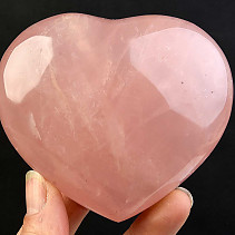 Heart of love rose quartz 363g