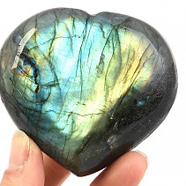 Labradorite smooth heart 240g