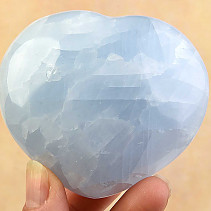 Calcite heart blue smooth 68mm