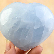 Calcite heart blue 71mm