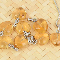 Pendant citrine heart Ag handle