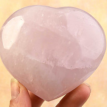 Smooth heart of rose quartz 306grams