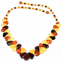 Exclusive amber necklace 51cm 18.03g