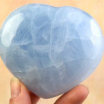 Blue calcite heart shape 313g