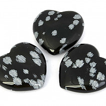 Heart obsidian flake 40mm