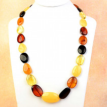 Amber oval necklace mix 68cm