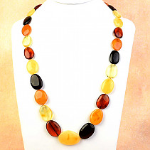 Amber oval necklace mix 70cm