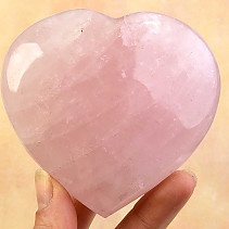 Vintage rose quartz heart 423g