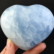 Calcite heart blue 338g