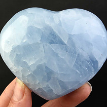 Love heart of blue calcite 303g