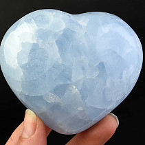 Calcite heart blue 304g