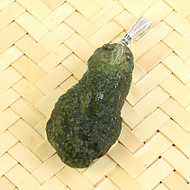 Natural moldavite necklace Ag pendant 3g