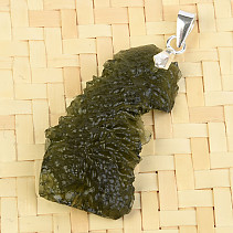 Pendant with moldavite Ag 4.3g 46mm