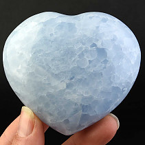 Love heart of blue calcite 224g