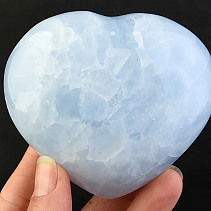 Heart of blue calcite 316g