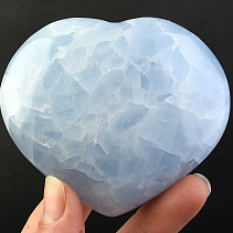 Love heart of blue calcite 247g