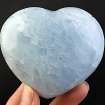 Love heart of blue calcite 270g