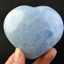 Love heart of blue calcite 259g