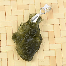 Natural moldavite necklace Ag pendant 2.1g