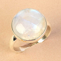Moon ring round shape size 60 Ag 925/1000 5,5g