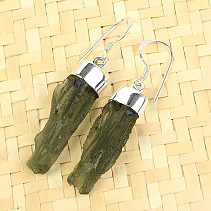 Vltavín Earrings natural Ag 925/1000 5.12g