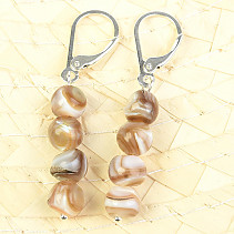 Freshwater mussels earrings 4 balls