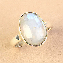Moonstone ring oval Ag 925/1000