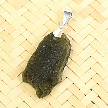 Pendant with moldavite Ag 2.9g