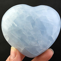 Calcite heart blue 302g