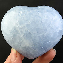 Calcite heart blue 285g