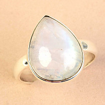 Ring moon stone drop size 60 Ag 925/1000 4,6g