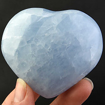 Calcite heart blue 177g
