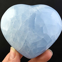 Calcite heart blue 280g