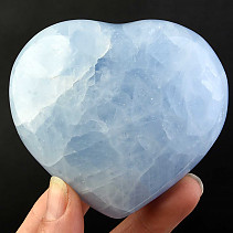 Love heart of blue calcite 317g