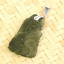 Pendant with moldavite Ag 3.7g