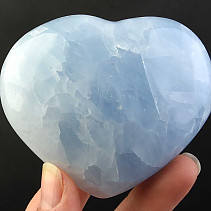 Love heart of blue calcite 219g